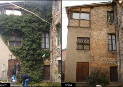 nettoyage de façade cottet jardins paysagiste